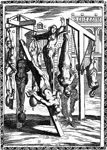 immagine raffigurante tortura di qualche santo nel passato