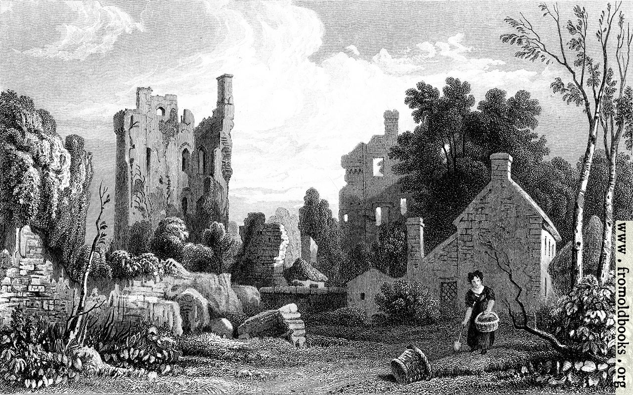 Black And White Dot Wallpaper Coity Castle Glamorganshire