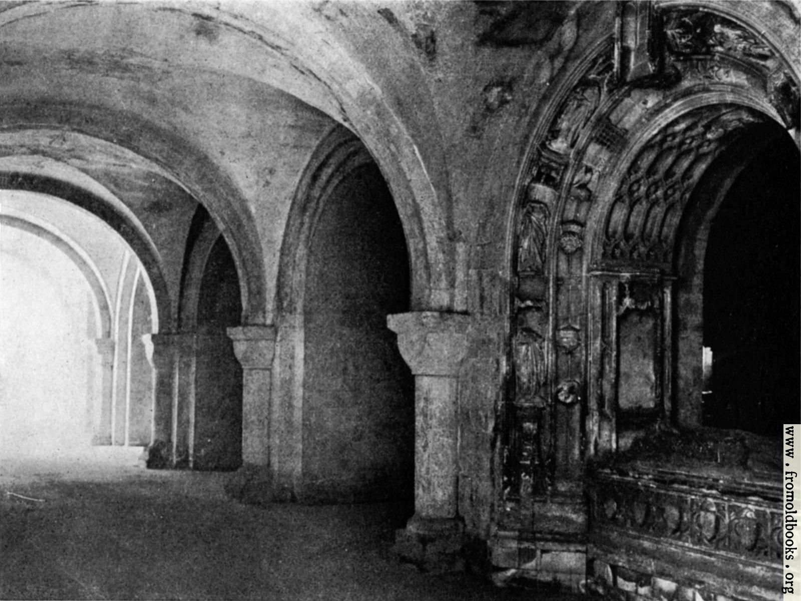 Black And White Gothic Wallpaper A Cathedral Crypt