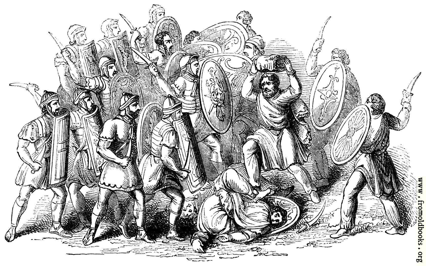 Black And White Dot Wallpaper 114 Conflict Between Romans And Barbarians