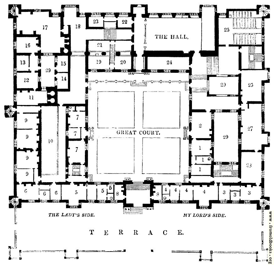 1674.—Plan of Buckhurst House, Sussex.