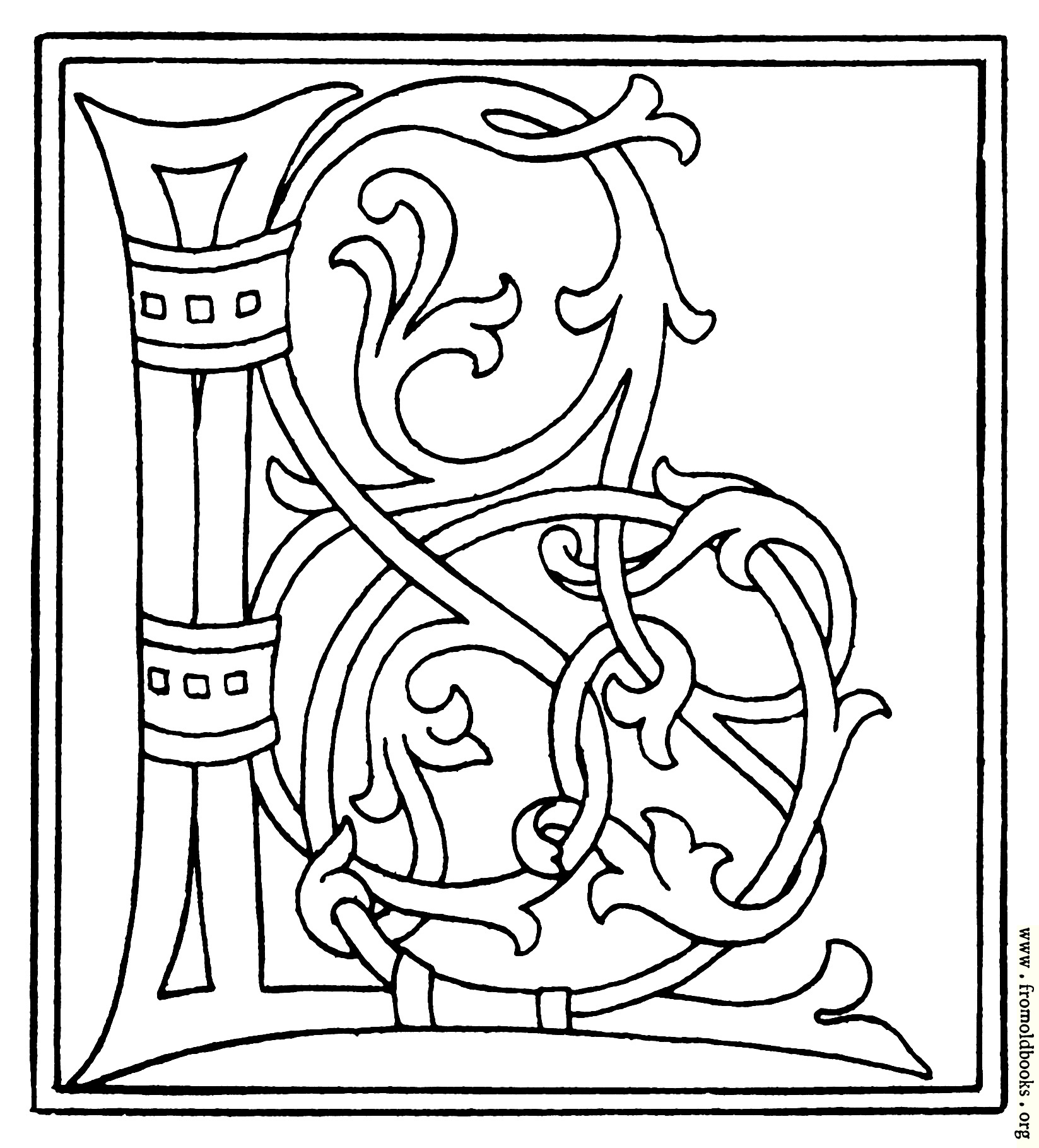Clipart Initial Letter L From Late 15th Century Printed