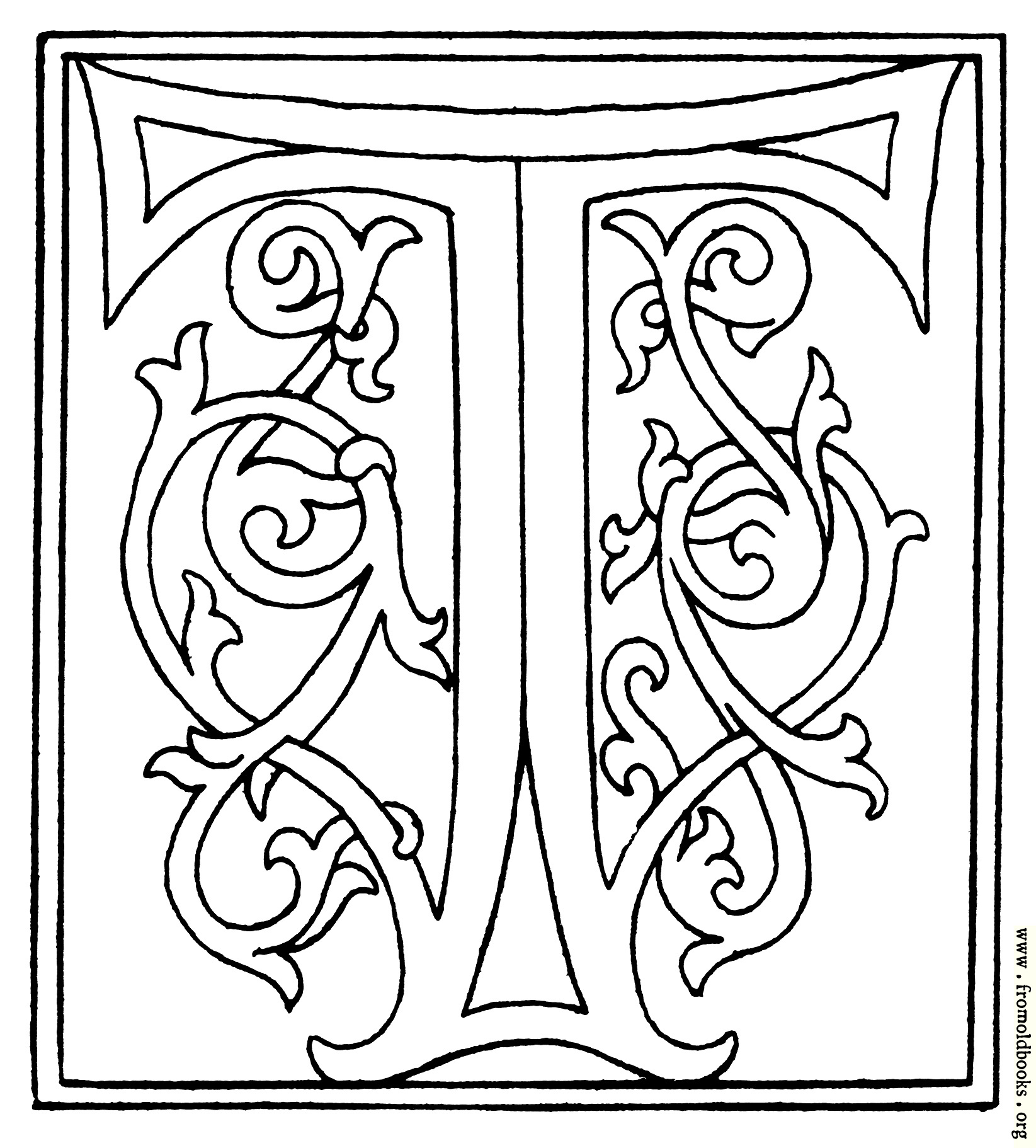 Clipart Initial Letter T From Late 15th Century Printed Book