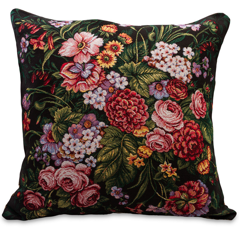 Flower Medley Decorative Tapestry Throw Pillow  Product