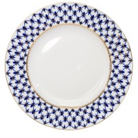 Cobalt Net Dinner Plate (flat) | Product sku J-116636
