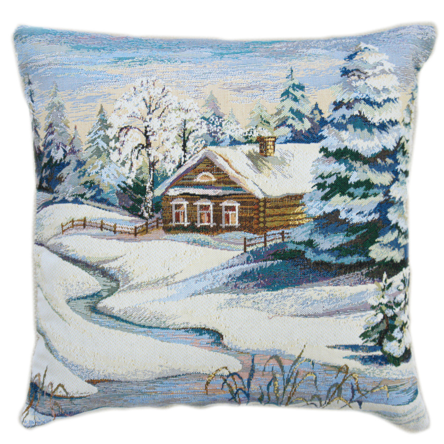 Winter Day Decorative Tapestry Throw Pillow  Product sku