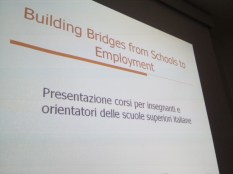 Dissemination in Italy: Presentation in Sacile