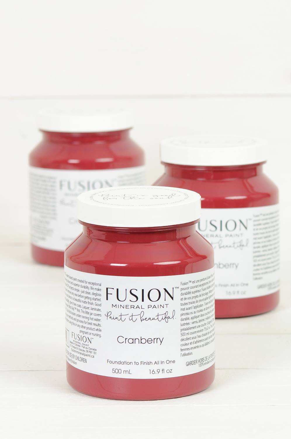 Fusion Mineral Paint Cranberry One Pint 500ml From Shabby To Fabby