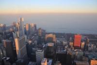 Vue sur le centre ville de Chicago
