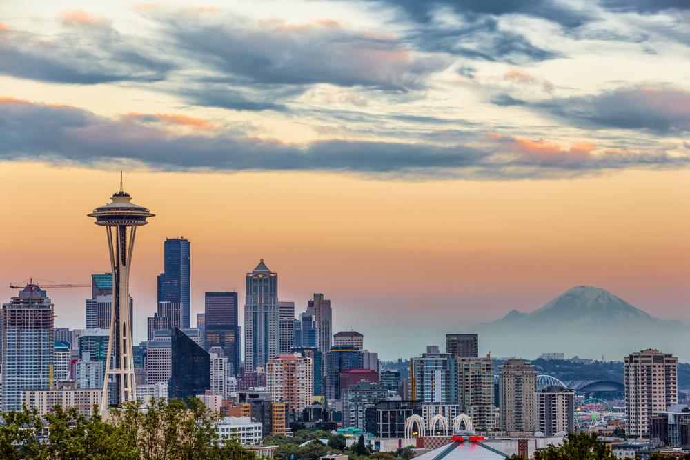 Seattle et le Mt Rainier