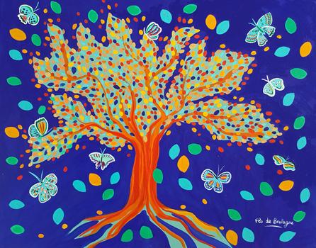 The Tree of Resurection, 28 x 22 in, $1,350