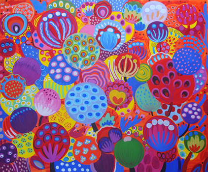 Vibrant Seeds, 72 x 60 in, $8,400