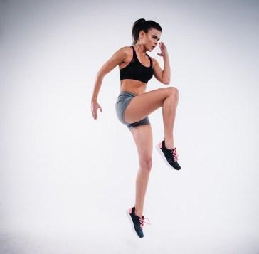 A girl doing aerobics