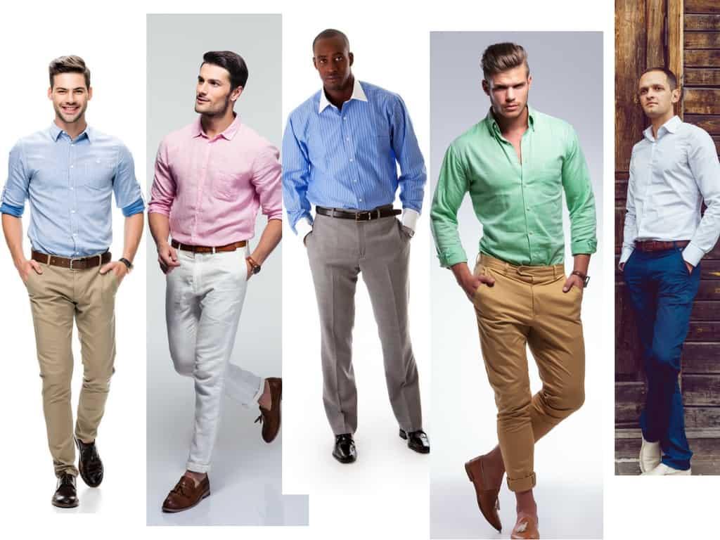 Men's formal wear combination.