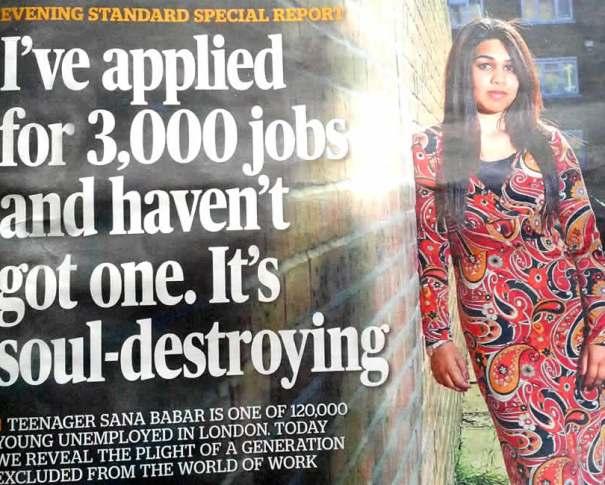 1 de cada 4 jóvenes en Londres está desempleado