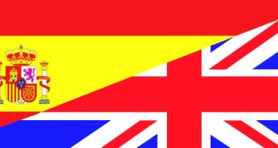 Spain & UK flags