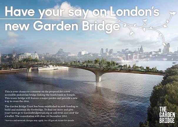 Anuncio del proyecto del nuevo puente Garden Bridge.