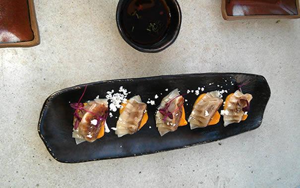 Wagyu Gyoza en SushiSamba