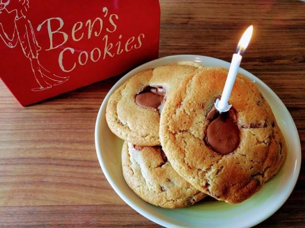 Cookies de chocolate Ben's Cookies para celebrar 6 años en Londres