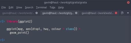 Syntax highlighting in radian using the monokai theme