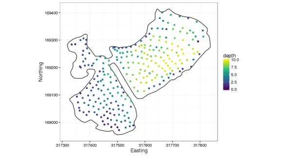 Comeston Park Lakes depth sounding data