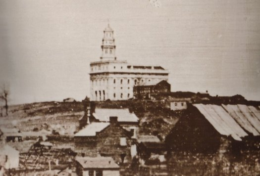 A photograph of the Nauvoo temple