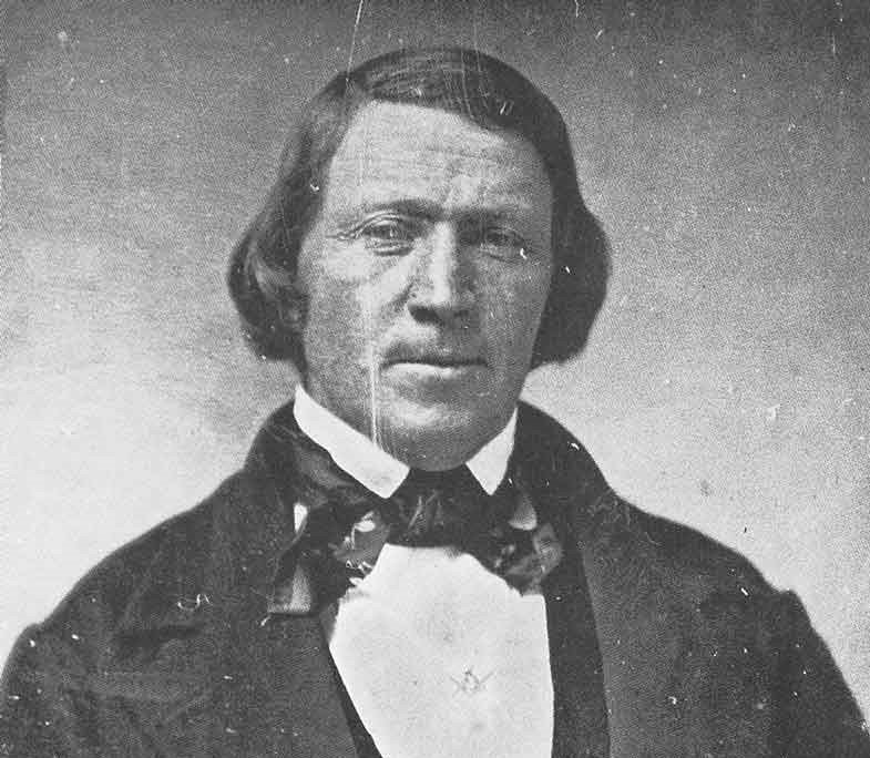 An old photograph of Brigham Young