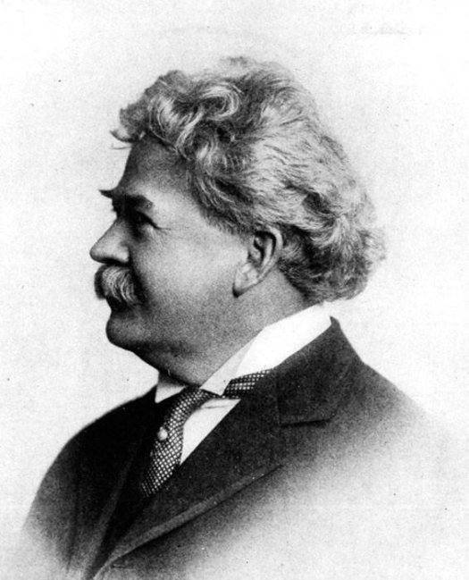 A grainy black-and-white profile picture of Frank J. Cannon