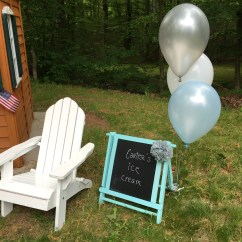 Adirondack Chair Photo Frame Favors Tufted Leather Wingback A Whale Of Party Welcome To Hunter 39s First