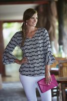 esc3-4 Slv Natalia Top_Black-White Bouquet_939-T3036