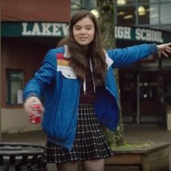 Blue Jacket Hailee Steinfeld in The Edge of Seventeen (2016)