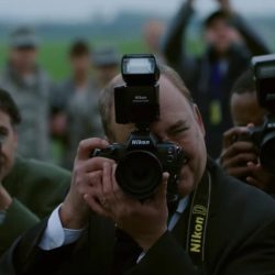 Nikon photo camera in War Machine (2017)