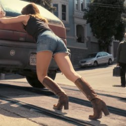 Brown boots Britt Robertson in Girlboss