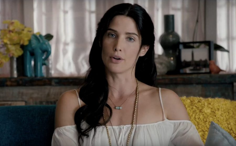Horizontal Chakra Point Necklace Cobie Smulders in Killing Gunther (2017)