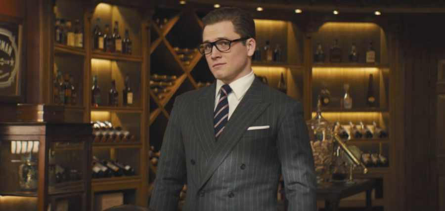 Striped tie Taron Egerton in Kingsman: The Golden Circle (2017)