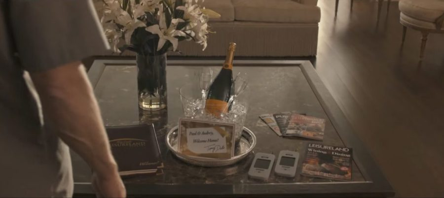 Champagne bottle in the movie Downsizing (2017)