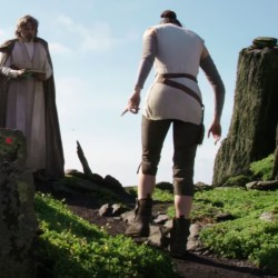 Daisy Ridley's brown mid-calf boots in Star Wars: The Last Jedi (2017)