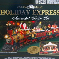 Electric Christmas Train in Sharing Christmas (2017)