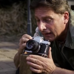35mm film camera Steve Carell in Welcome to Marwen (2018)