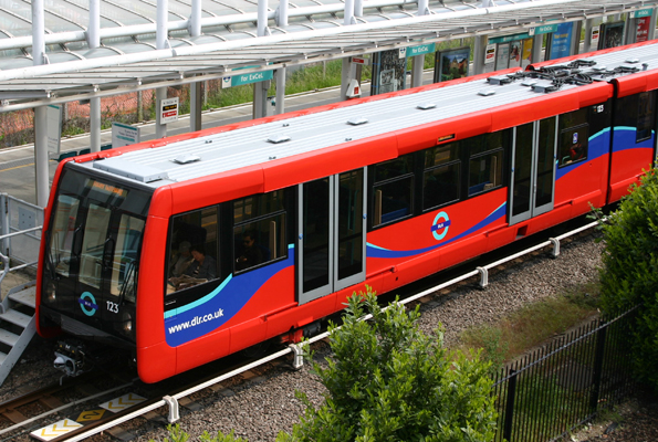 DLR train fills with smoke on approach to Woolwich