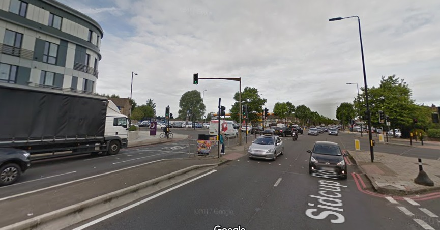 Accident at five ways junction in Eltham