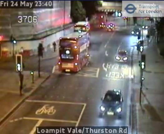 Lewisham accident causes car to flip blocking buses