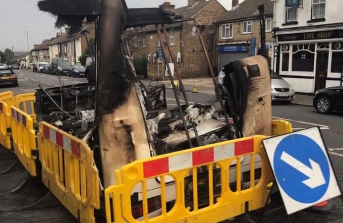 Arsonists target Bexley Charity van