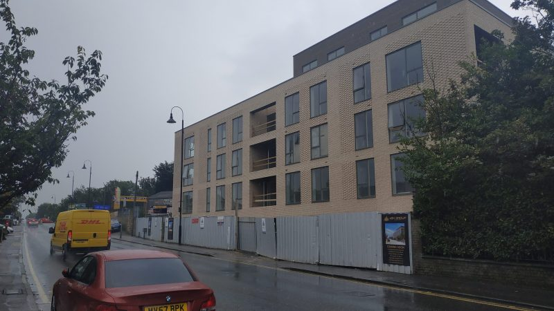 New Crayford flats near completion