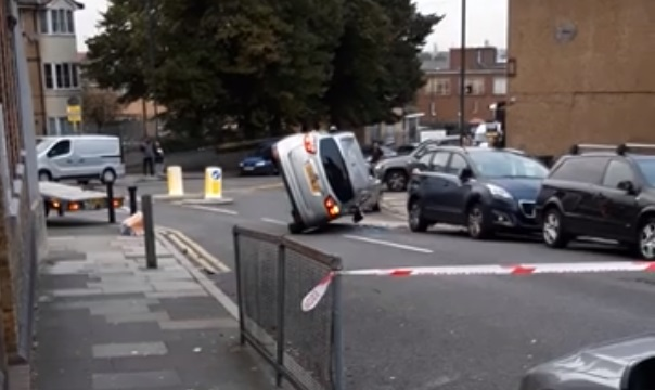 Car overturns closing Plumstead street