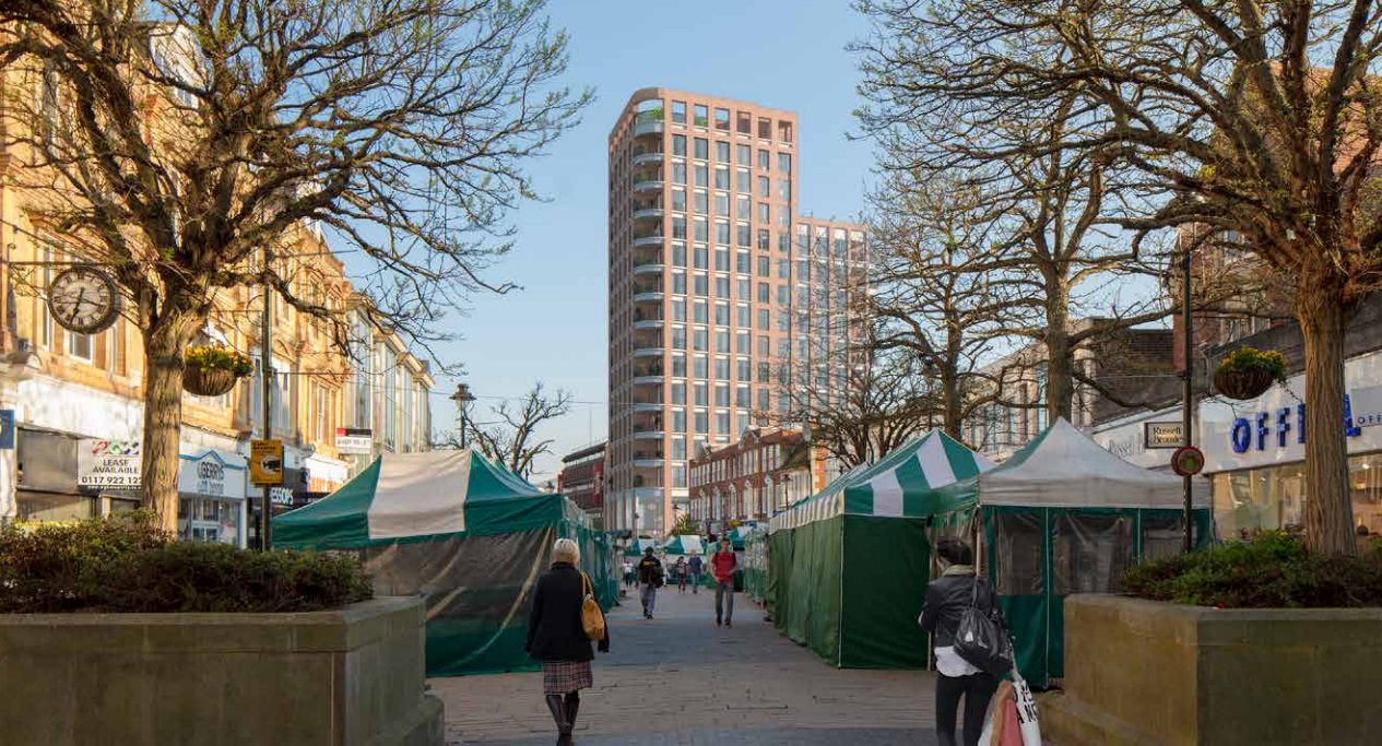 Plan for new block in Bromley town centre
