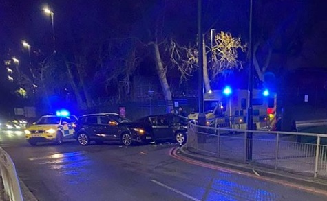 Serious accident in Woolwich as cars collide