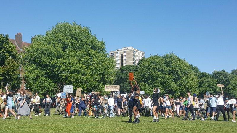 Black lives matter protest in Peckham