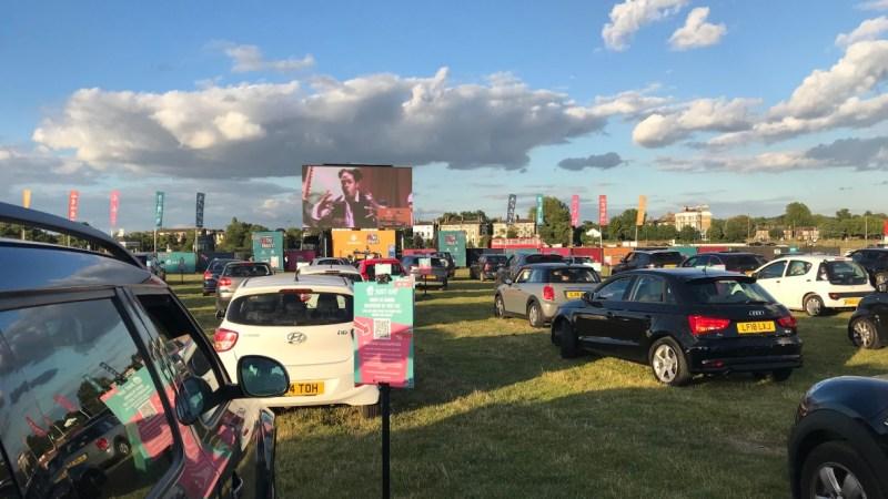 Car-only cinema begins at Blackheath