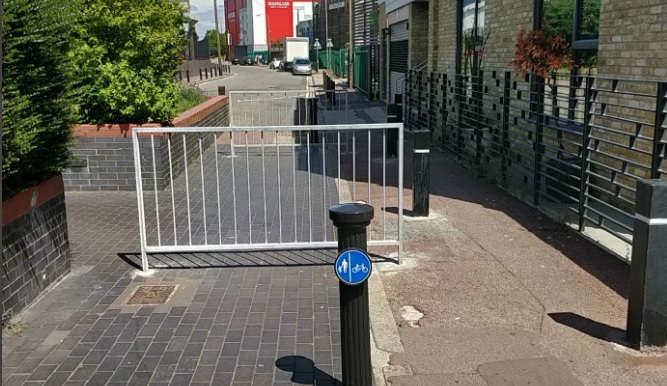 Obstacles making life harder for pedestrians and the disabled again in Greenwich